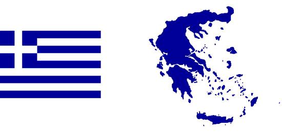 Greek Flag-Map